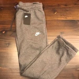 Bike fleece standard fit sweatpants grey gray